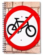 No Cycling Spiral Notebook