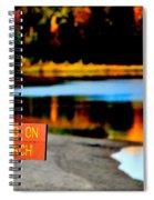 No Fishing IIi Spiral Notebook