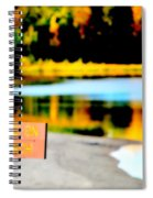 No Fishing On Swim Beach Spiral Notebook