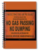 No Gas Passing Spiral Notebook