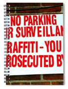 No Graffiti Spiral Notebook