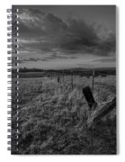 No Pass Black And White Spiral Notebook