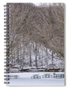 Snowy Picnic Ground In Winter Spiral Notebook