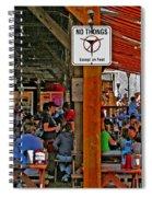 No Thongs Spiral Notebook