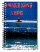 No Wake Zone Spiral Notebook