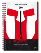 No001 My 300 Minimal Movie Poster Spiral Notebook