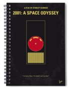 No003 My 2001 A Space Odyssey 2000 Minimal Movie Poster Spiral Notebook