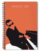 No003 My Ray Charles Minimal Music Poster Spiral Notebook