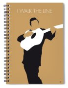 No010 My Johnny Cash Minimal Music Poster Spiral Notebook