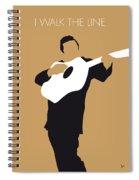 No010 My Johnny Cash Minimal Music Poster Spiral Notebook
