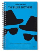 No012 My Blues Brother Minimal Movie Poster Spiral Notebook