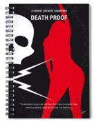 No018 My Death Proof Minimal Movie Poster Spiral Notebook