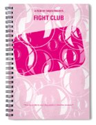 No027 My Fight Club Minimal Movie Poster Spiral Notebook