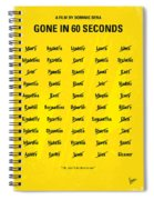 No032 My Gone In 60 Seconds Minimal Movie Poster Spiral Notebook