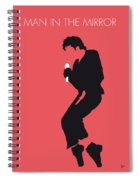 No032 My Michael Jackson Minimal Music Poster Spiral Notebook