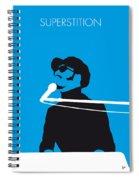 No039 My Stevie Wonder Minimal Music Poster Spiral Notebook