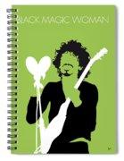 No046 My Santana Minimal Music Poster Spiral Notebook