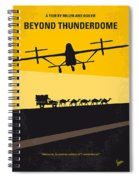 No051 My Mad Max 3 Beyond Thunderdome Minimal Movie Poster Spiral Notebook