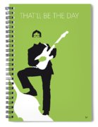 No056 My Buddy Holly Minimal Music Poster Spiral Notebook