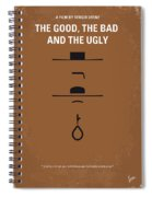 No090 My The Good The Bad The Ugly Minimal Movie Poster Spiral Notebook