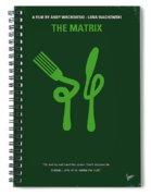 No093 My The Matrix Minimal Movie Poster Spiral Notebook