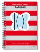 No098 My Papillon Minimal Movie Poster Spiral Notebook