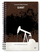 No102 My Giant Minimal Movie Poster Spiral Notebook