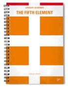 No112 My Fifth Element Minimal Movie Poster Spiral Notebook