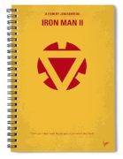 No113 My Iron Man Minimal Movie Posterno113-2 My Iron Man 2 Minimal Movie Poster Spiral Notebook