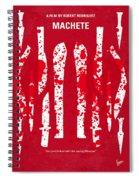 No114 My Machete Minimal Movie Poster Spiral Notebook