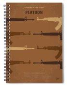 No115 My Platoon Minimal Movie Poster Spiral Notebook