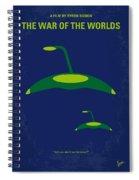 No118 My War Of The Worlds Minimal Movie Poster Spiral Notebook
