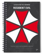 No119 My Resident Evil Minimal Movie Poster Spiral Notebook