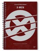 No123 My Xmen Minimal Movie Poster Spiral Notebook