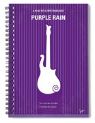 No124 My Purple Rain Minimal Movie Poster Spiral Notebook