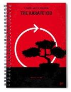 No125 My Karate Kid Minimal Movie Poster Spiral Notebook