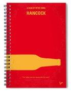 No129 My Hancock Minimal Movie Poster Spiral Notebook
