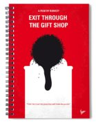 No130 My Exit Through The Gift Shop Minimal Movie Poster Spiral Notebook