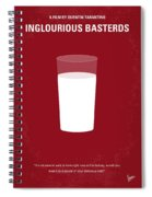 No138 My Inglourious Basterds Minimal Movie Poster Spiral Notebook