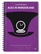 No140 My Alice In Wonderland Minimal Movie Poster Spiral Notebook