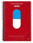No144 My Akira Minimal Movie Poster Spiral Notebook