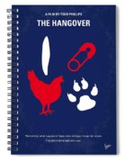 No145 My The Hangover Minimal Movie Poster Spiral Notebook