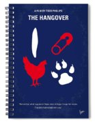 No145 My The Hangover Part 1 Minimal Movie Poster Spiral Notebook