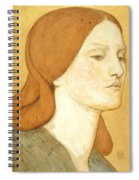 No.1575 Head Of A Girl In A Green Dress Spiral Notebook