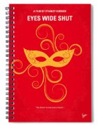 No164 My Eyes Wide Shut Minimal Movie Poster Spiral Notebook