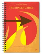 No175 My Hunger Games Minimal Movie Poster Spiral Notebook