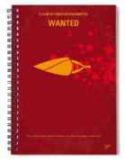 No176 My Wanted Minimal Movie Poster Spiral Notebook