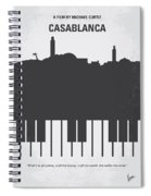 No192 My Casablanca Minimal Movie Poster Spiral Notebook