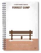 No193 My Forrest Gump Minimal Movie Poster Spiral Notebook