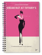 No204 My Breakfast At Tiffanys Minimal Movie Poster Spiral Notebook